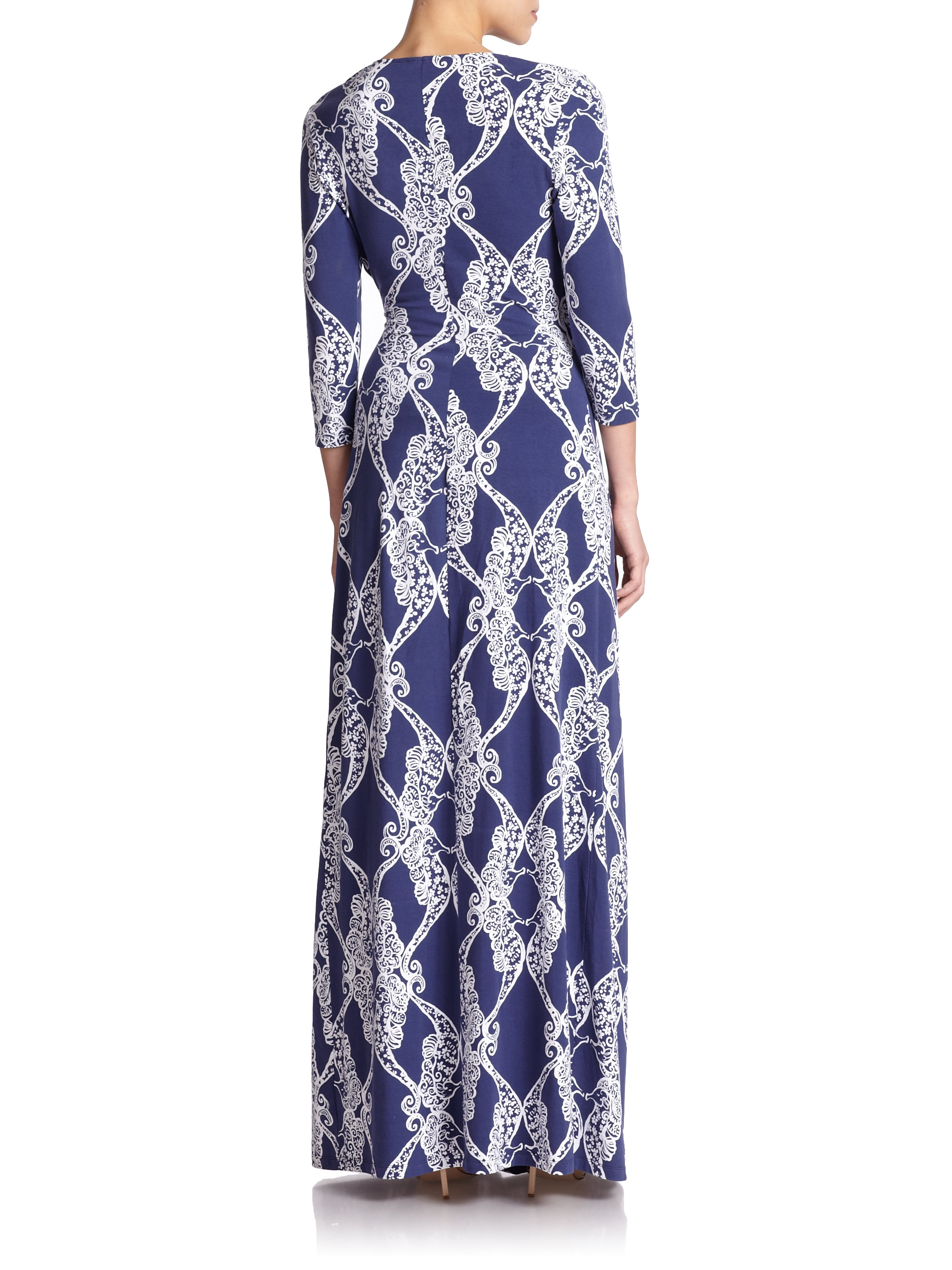 Lyst Lilly Pulitzer Yvette Maxi Dress In Blue