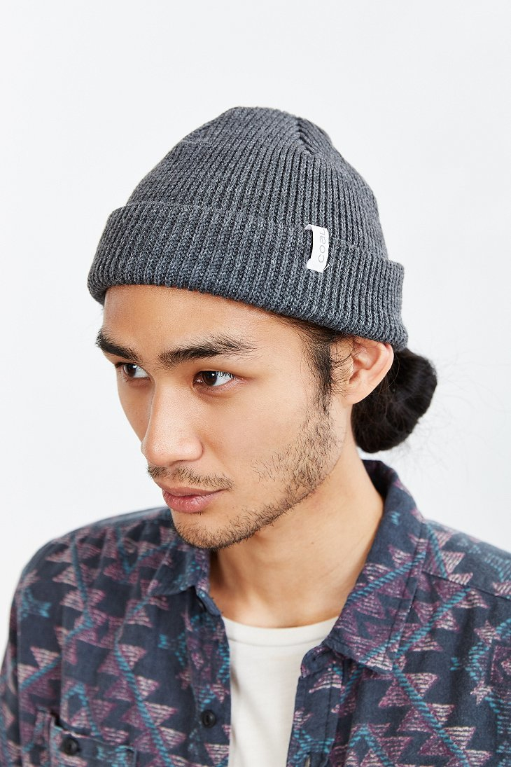 Lyst - Coal The Frena Solid Beanie in Gray for Men 0120c5a32fd