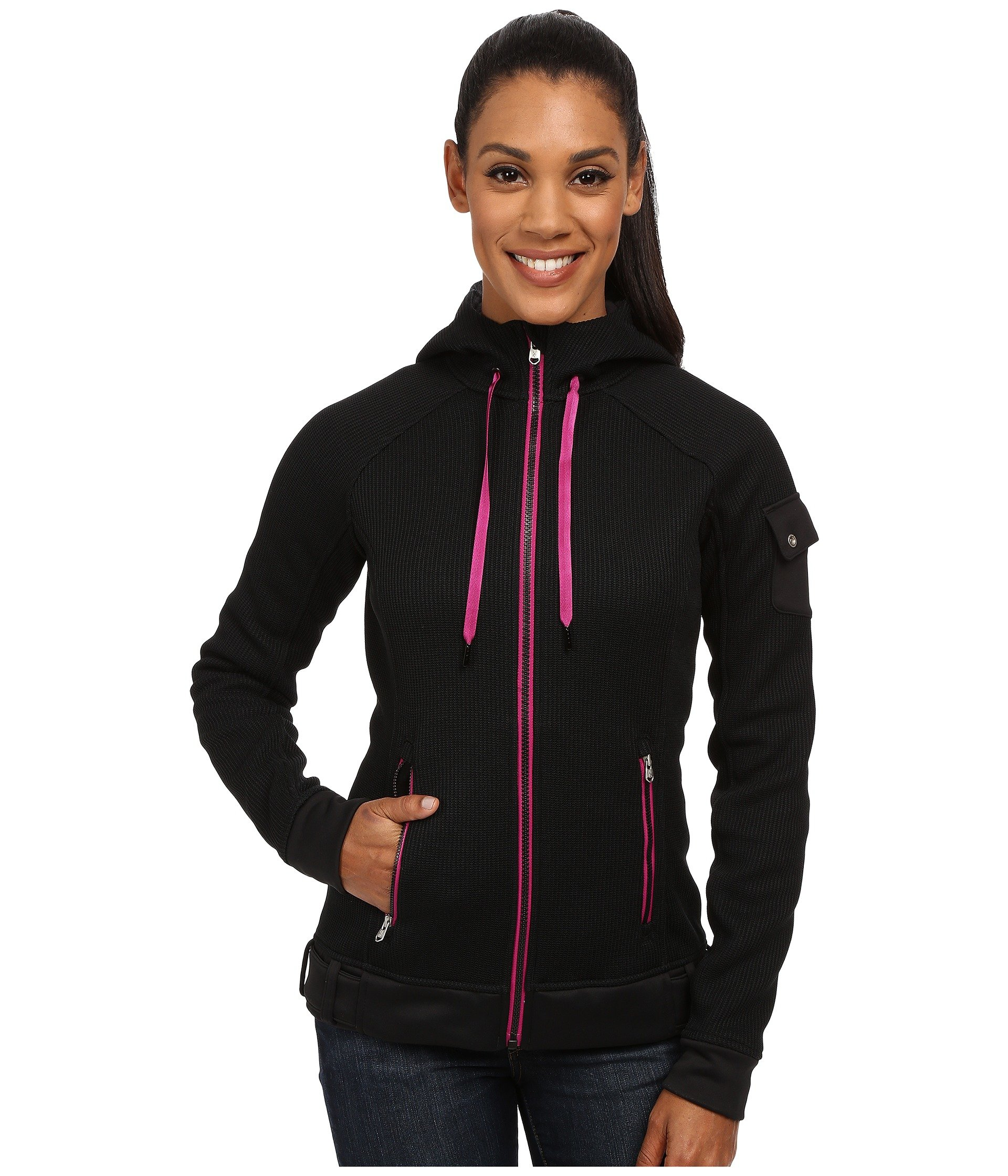 Spyder Ardent Full Zip Hoodie Mid Weight Core Sweater in Black | Lyst