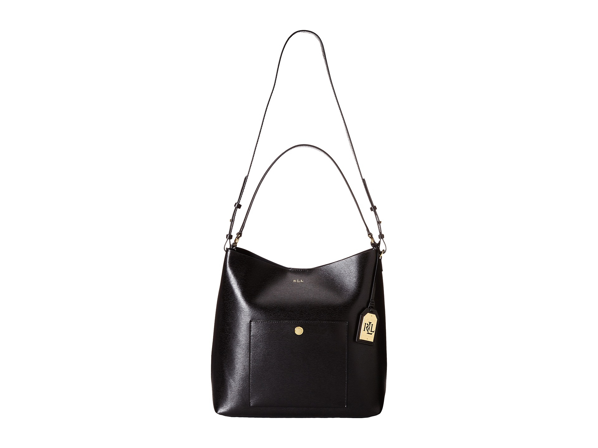 a0e9ea04ff9 Lyst - Lauren by Ralph Lauren Newbury Pocket Hobo in Black