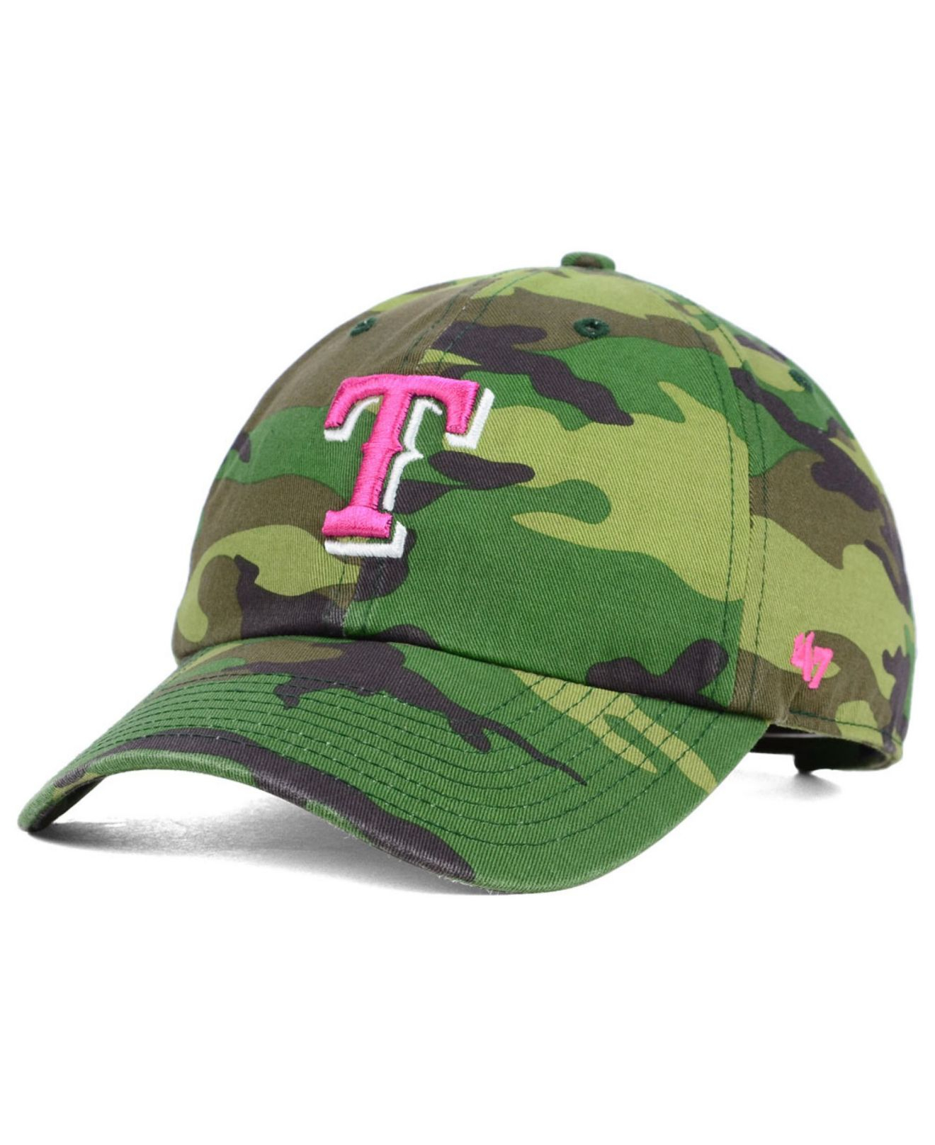 e753928f7d0 ... release date lyst 47 brand womens texas rangers clean up cap in green  630bf ee343 ...