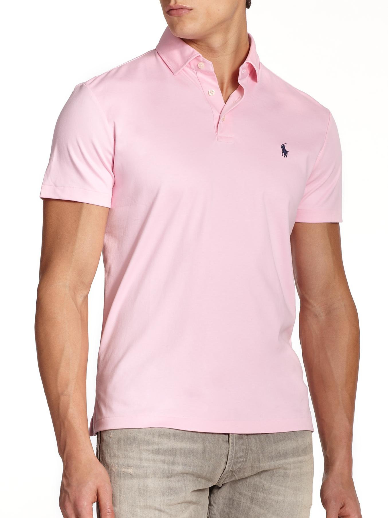 f4eda0eff Polo Ralph Lauren Pink Pima Soft-touch Polo for men