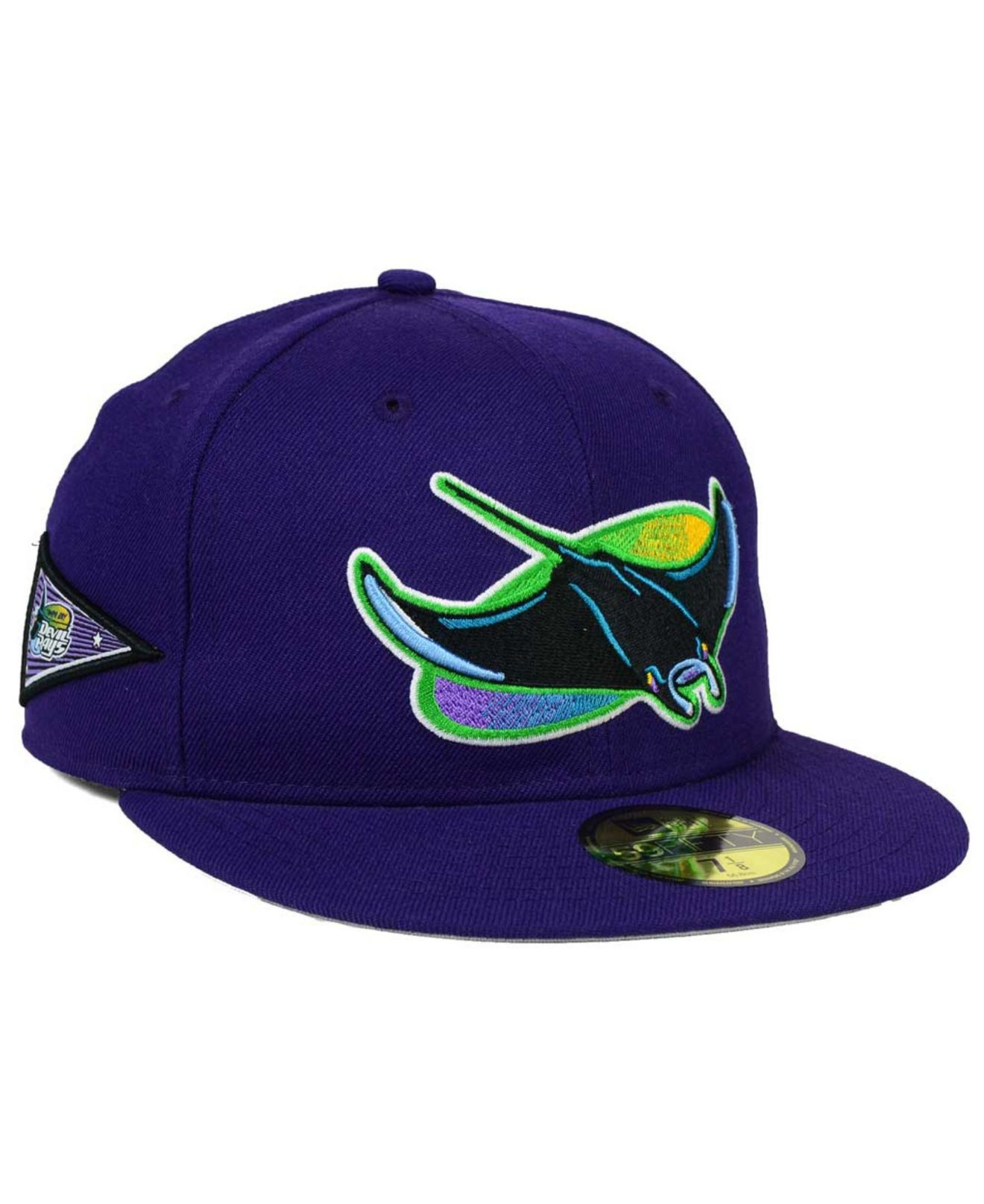 various colors 71b5e 210ca ... all cooperstown corduroy 9fifty snapback cap 00c48 68d02  uk lyst ktz  tampa bay rays banner patch 59fifty cap in blue for men 08e60 fa2ff