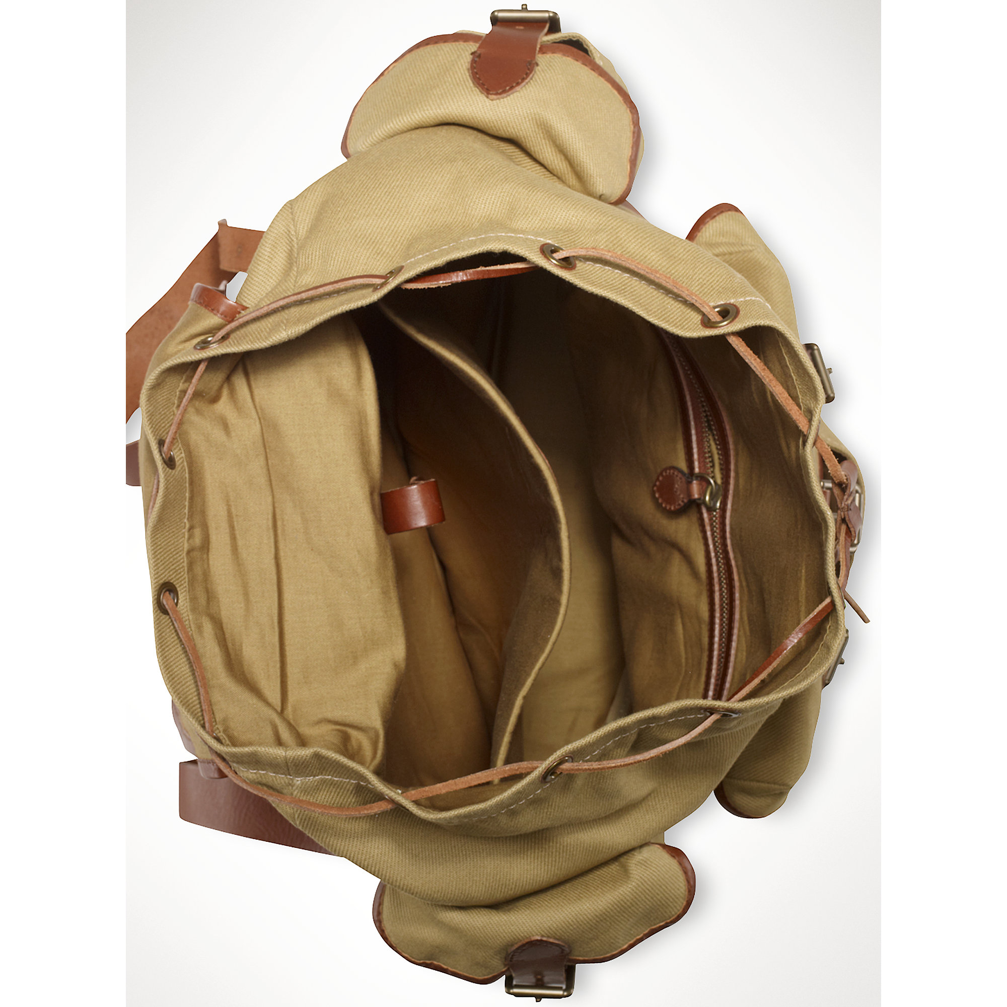 Lyst - Polo Ralph Lauren Canvas Highland Backpack in Natural for Men eb8a5f779eb71