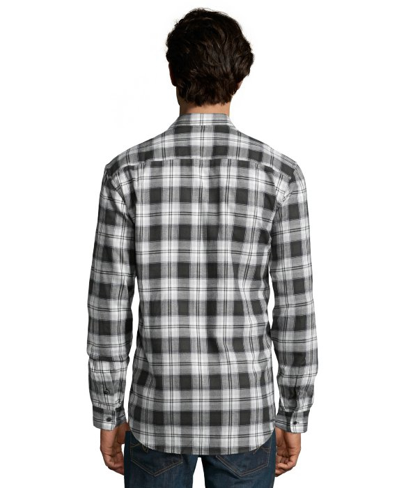 Slate And Stone Clothing : Slate stone black plaid wool blend calvin button down
