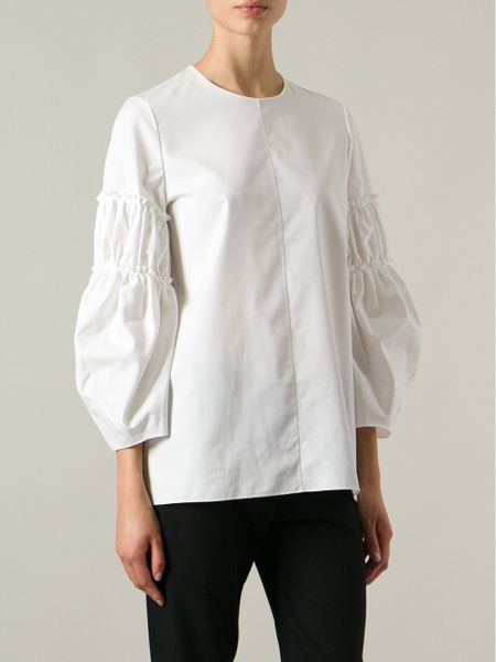 Puff Sleeve Blouse White 42