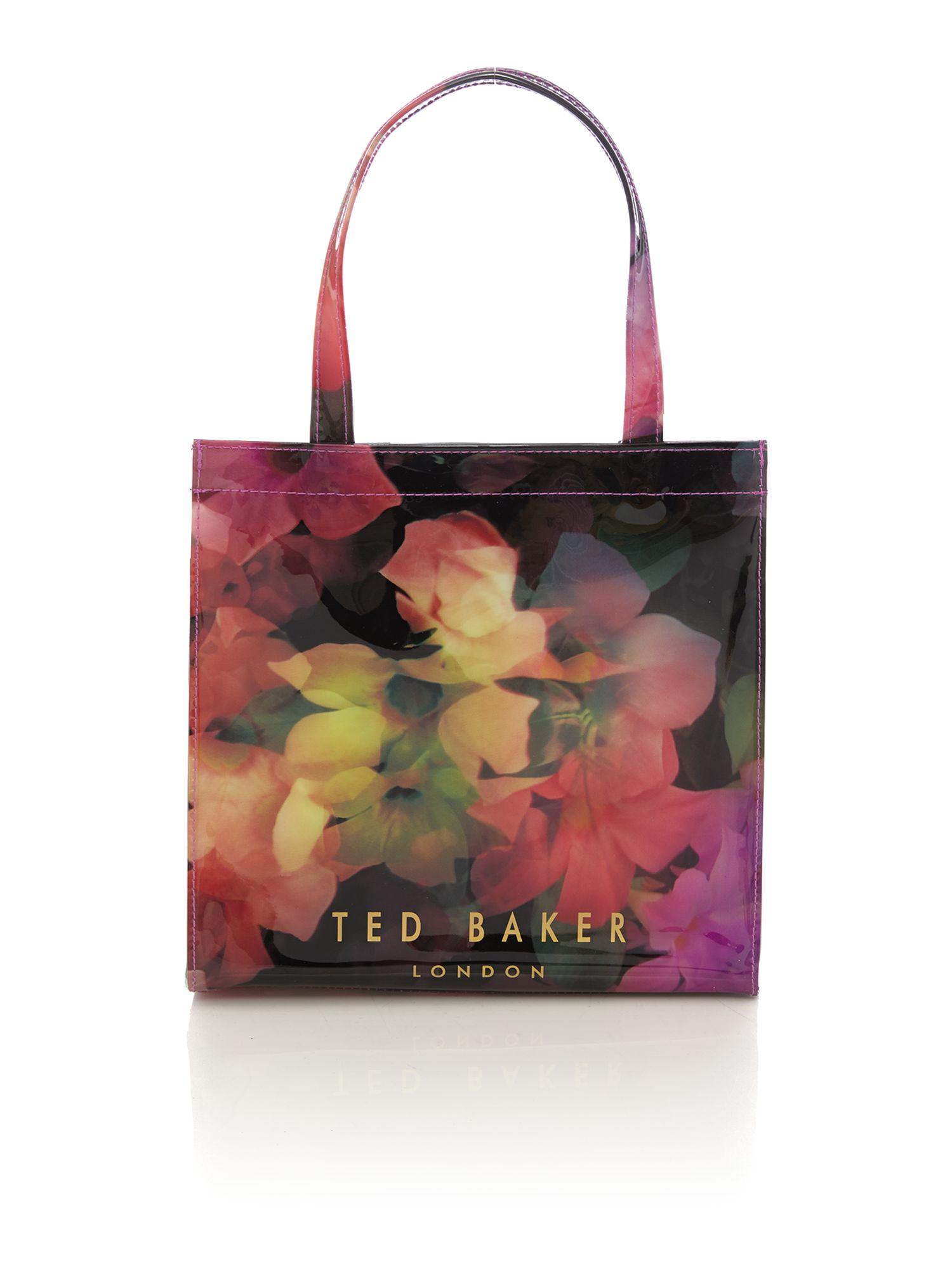 ted baker black and pink floral print umbrella tote bag lyst