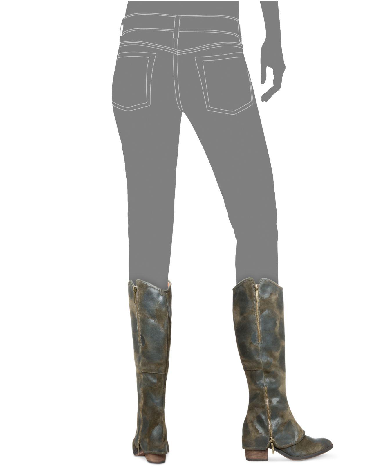 9ee3134047c Lyst - Donald J Pliner Donald J Pliner Devi Tall Wide Calf Boots in ...