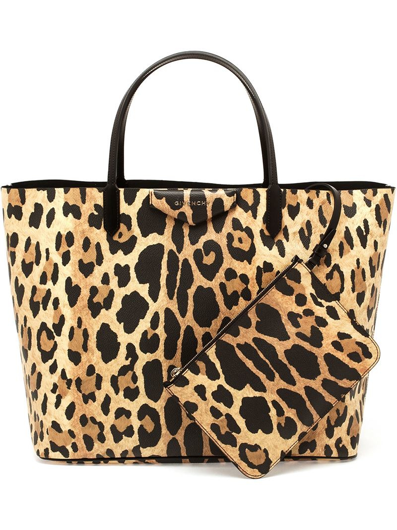 23c47e5d3cd Popular Lyst - Givenchy Leopard Print Antigona Shopping Bag in Brown JZ14