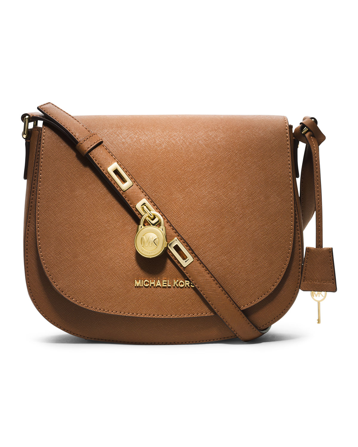 adee6f93bf Lyst - Michael Kors Michael Large Hamilton Messenger in Brown