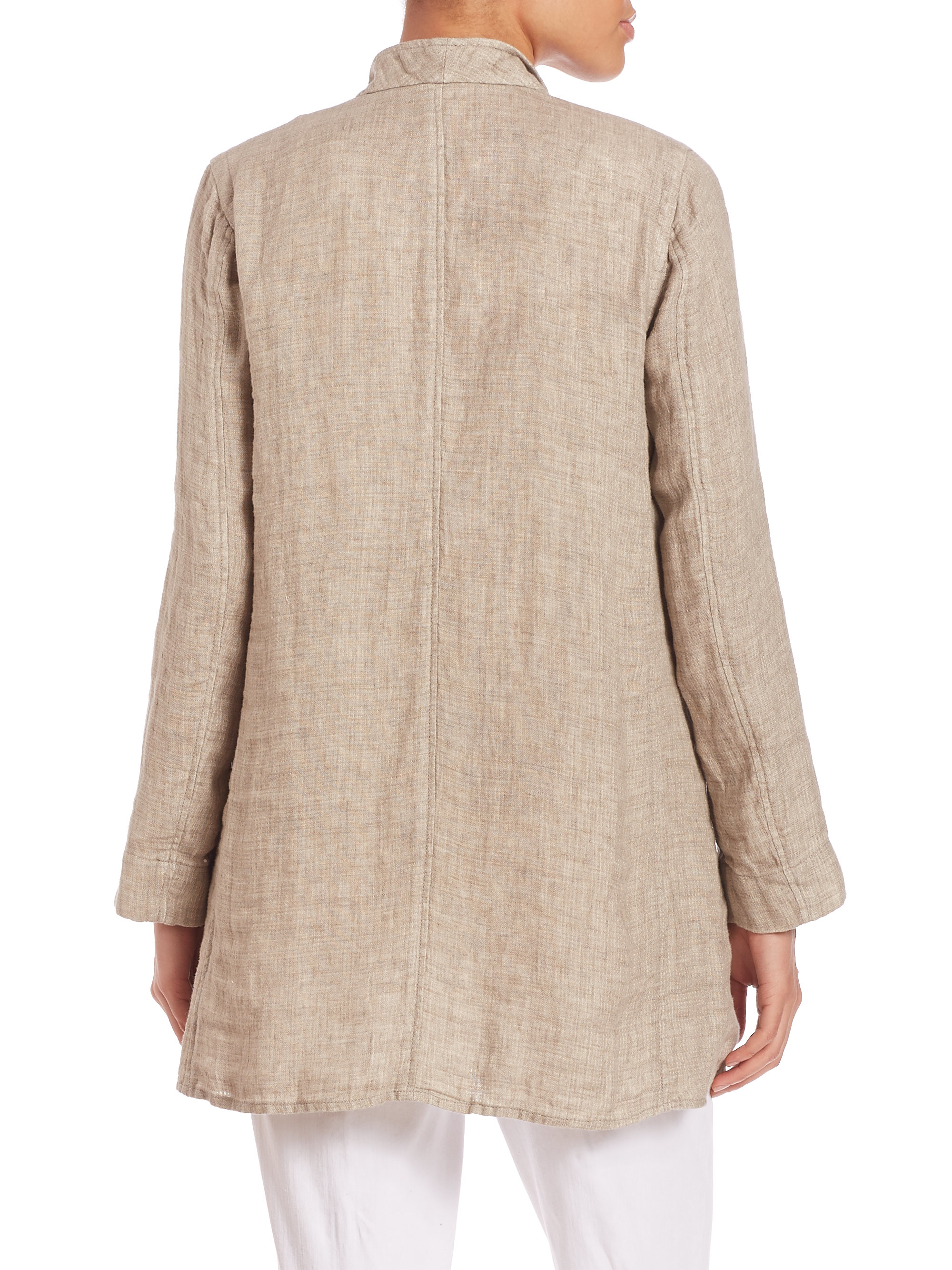 Lyst Eileen Fisher Double Weave Organic Linen Stand