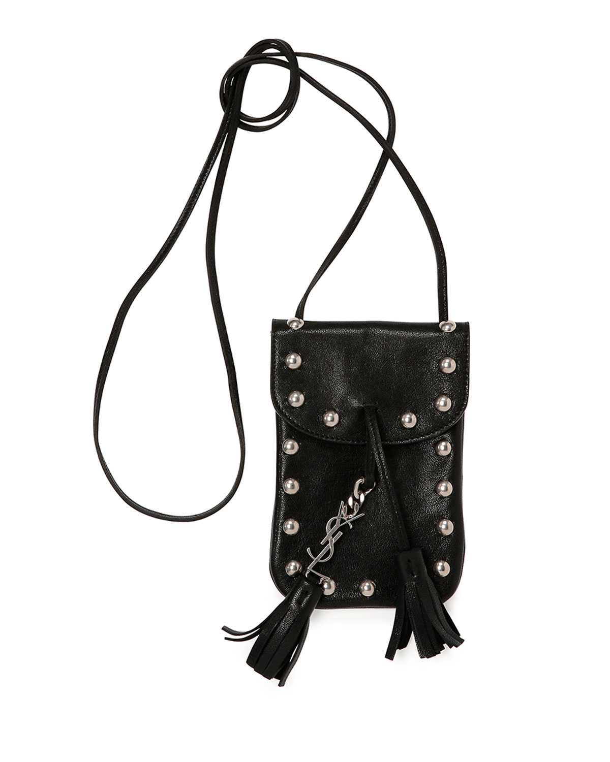 3b43dbb207 Lyst - Saint Laurent Anita Toy Leather Shoulder Bag in Black