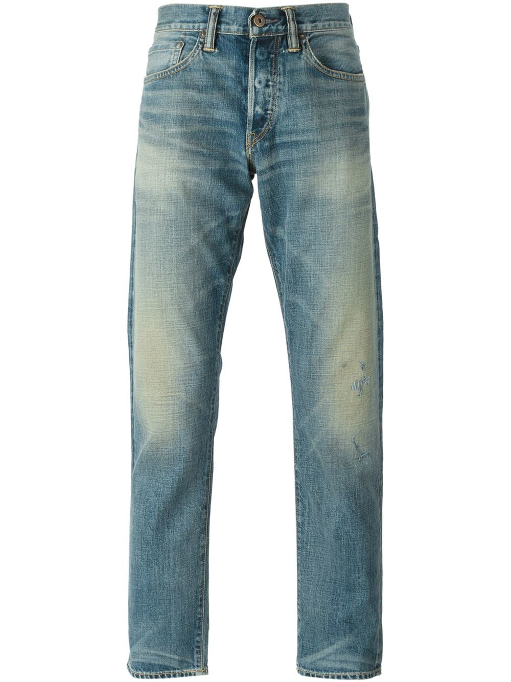 simon miller distressed stone washed jeans in blue for men save 30 lyst. Black Bedroom Furniture Sets. Home Design Ideas