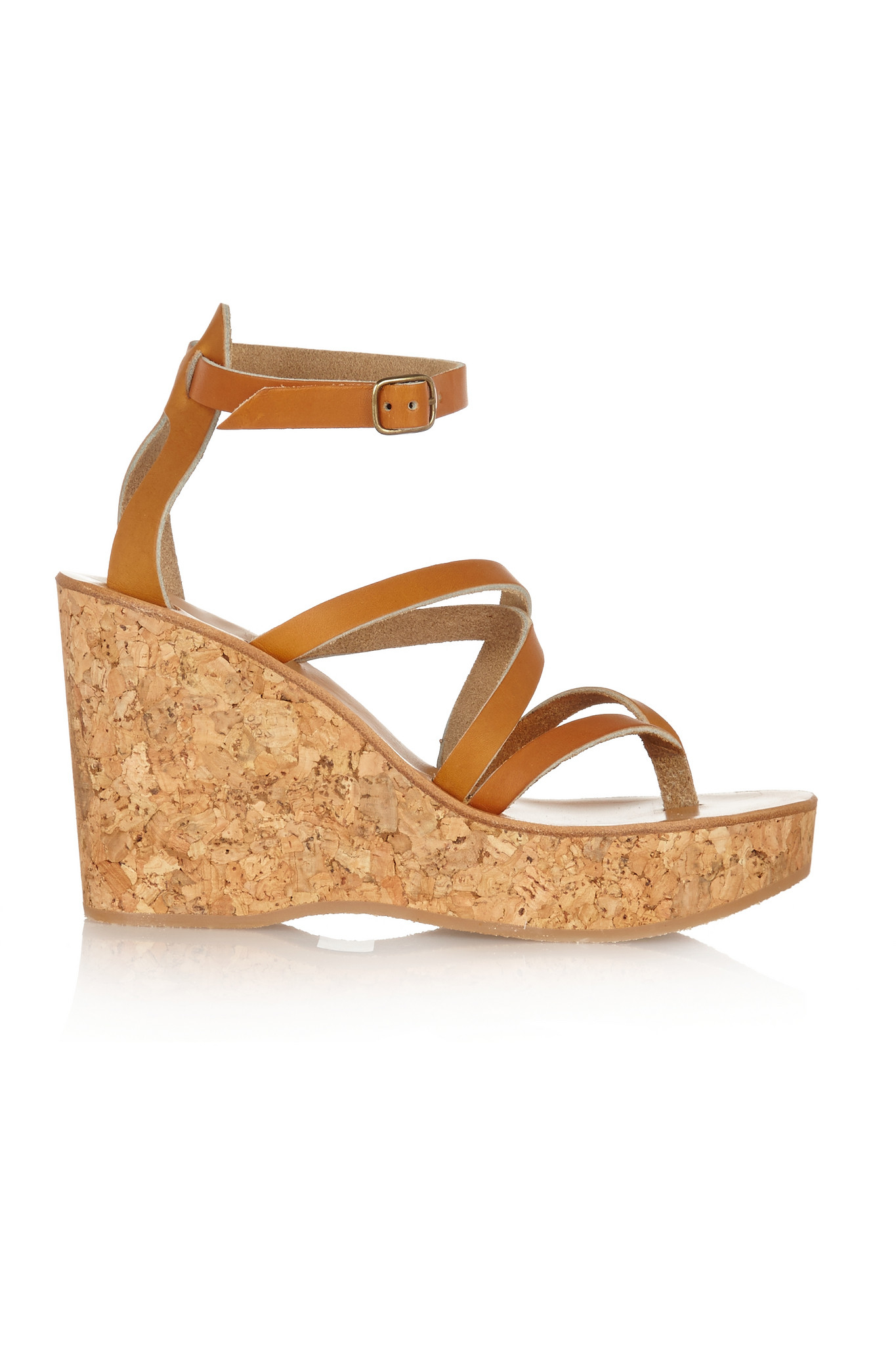 2afe9753d6a K. Jacques Cunegonde Leather Wedge Sandals in Brown - Lyst