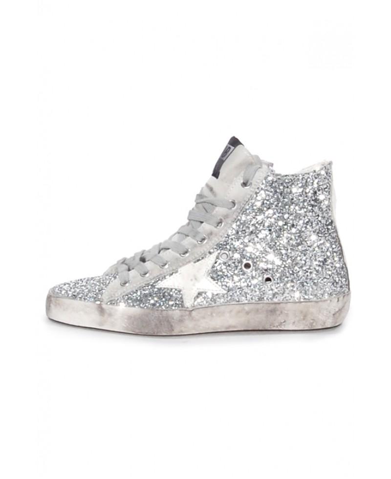 6d6289ab8ffa Golden Goose Deluxe Brand Francy Glitter High-Top Sneakers in ...