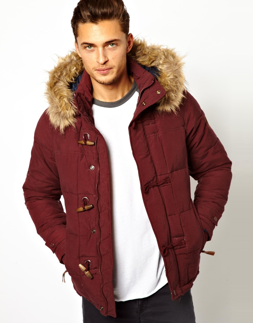 Burgundy Parka Jacket - JacketIn
