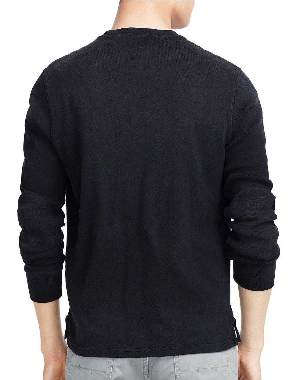 polo ralph lauren bulldog jersey pullover in black for men lyst. Black Bedroom Furniture Sets. Home Design Ideas