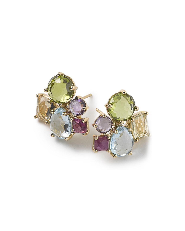 Ippolita 18k Rock Candy Mixed Cluster Earrings In Summer
