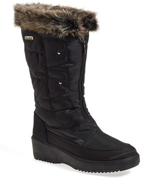 Pajar Louise Weatherproof Boot In Black Black Fabric