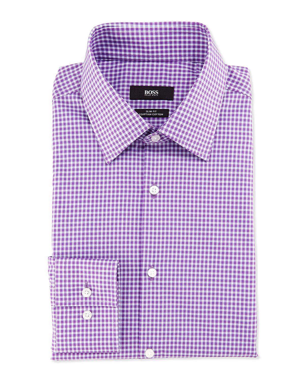 Lyst Boss Slim Fit Egyptian Cotton Gingham Sport Shirt