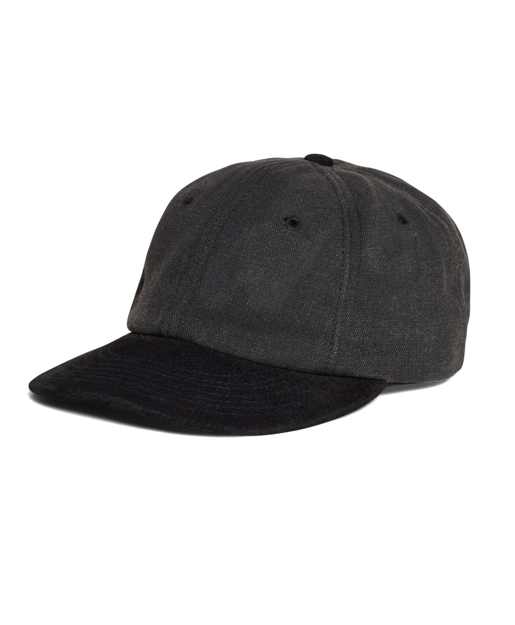 Brooks Brothers Waxed Canvas Baseball Hat In Black For Men