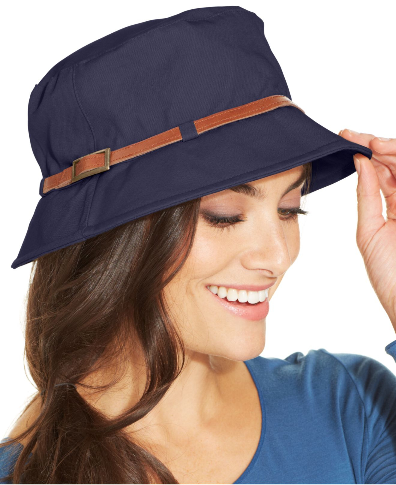 461dfca3abced Nine West Canvas Bucket Hat in Blue - Lyst