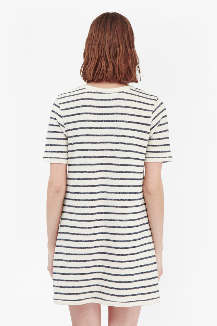 lyst french connection normandy stripe t shirt dress in blue. Black Bedroom Furniture Sets. Home Design Ideas
