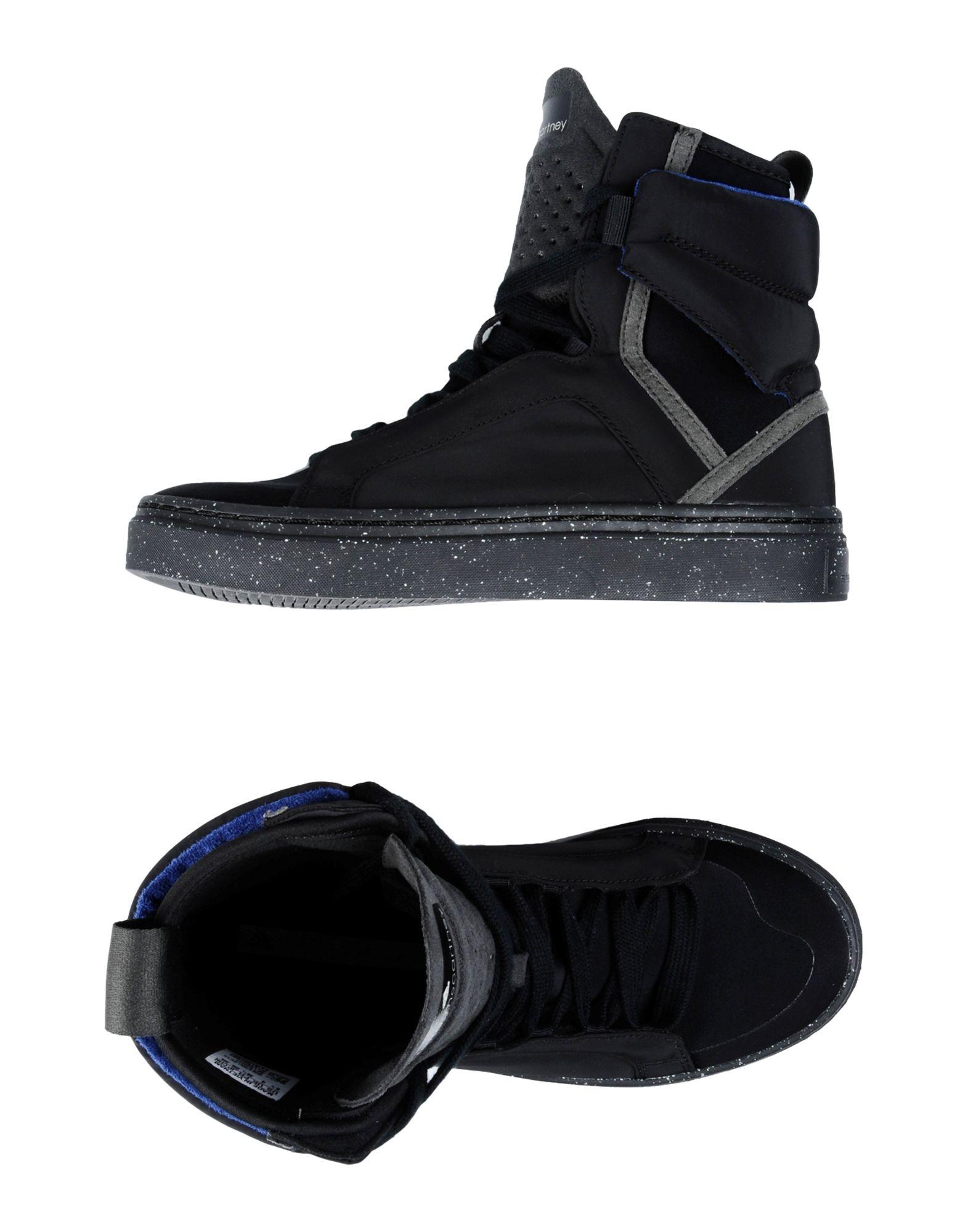 adidas by stella mccartney high tops sneakers in black