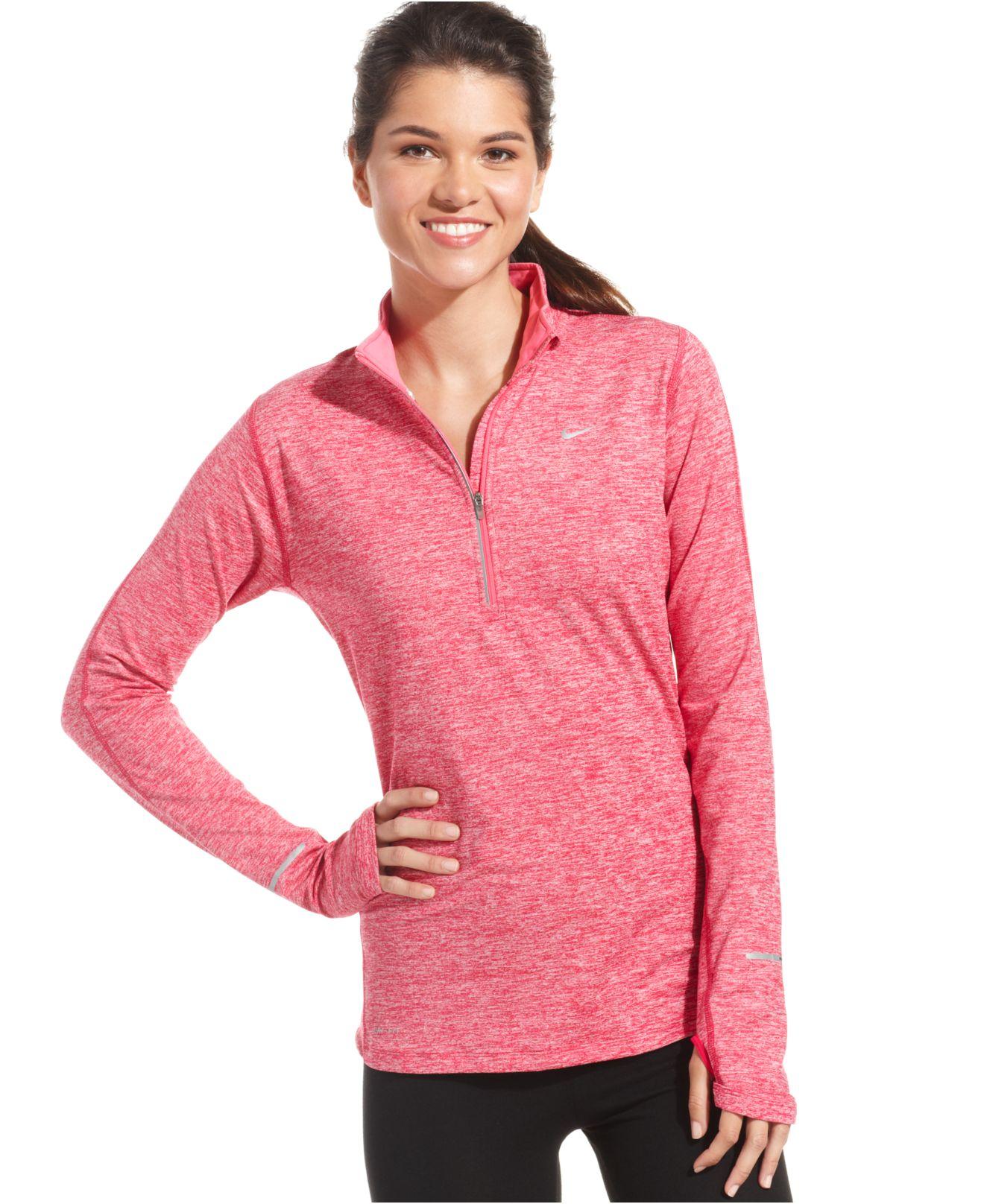 Lyst Nike Element Dri Fit Half Zip Pullover In Purple