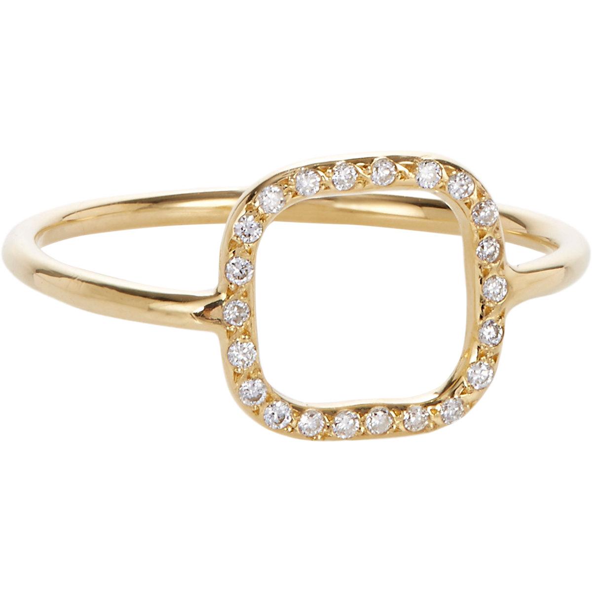 ileana makri white gold square ring in