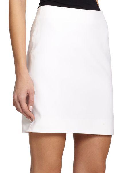 akris punto cotton techno pencil skirt in white lyst