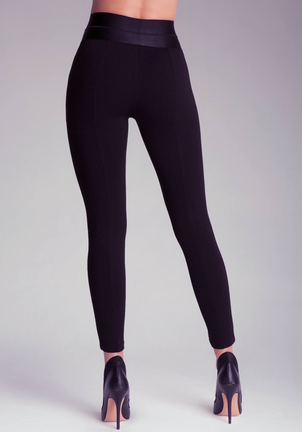 Bebe Petite High Waist Leggings in Black | Lyst