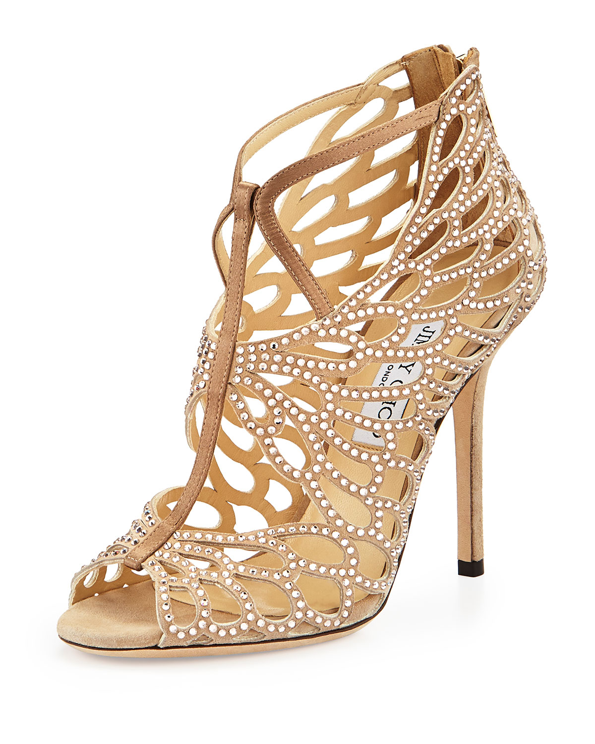 Jimmy Choo Fyonn Strass Caged Booties