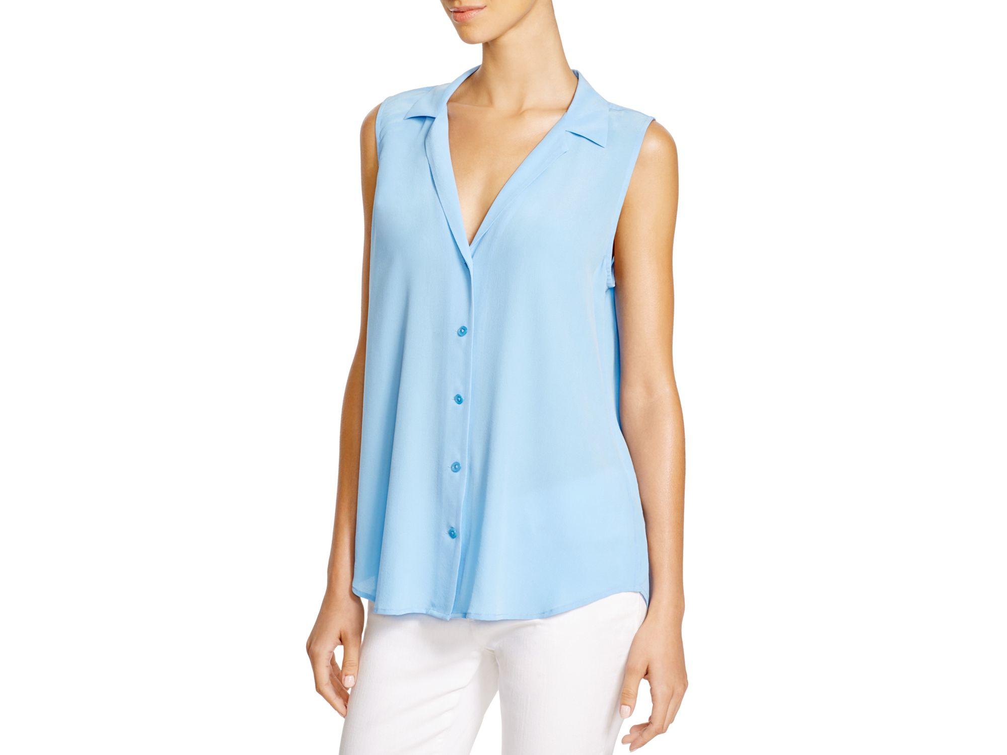 6fdcddce46b340 Lyst - Equipment Adalyn Button Down Shirt in Blue