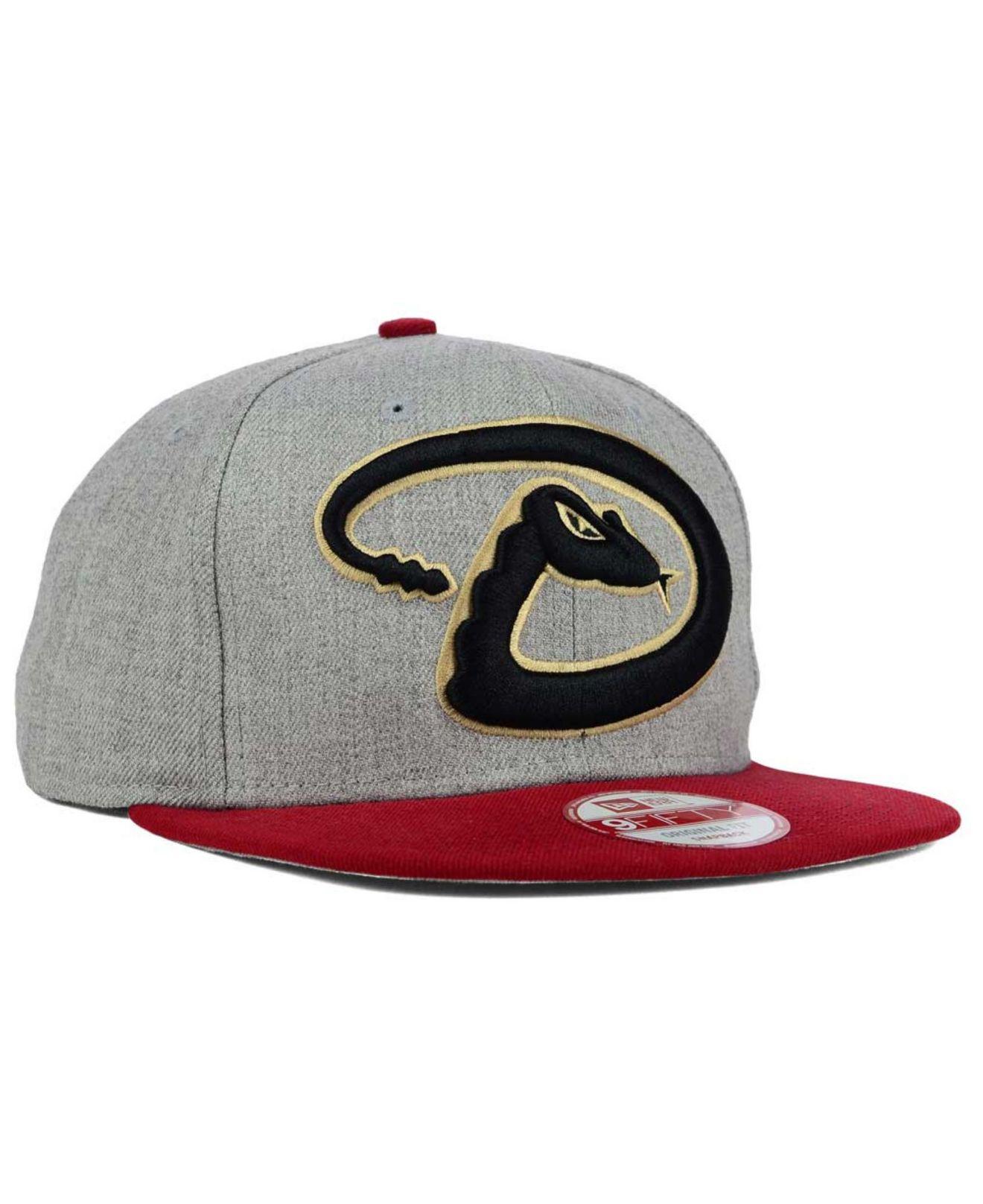 4d93c51e95d Lyst - KTZ Arizona Diamondbacks Logo Grand 9fifty Snapback Cap in ...