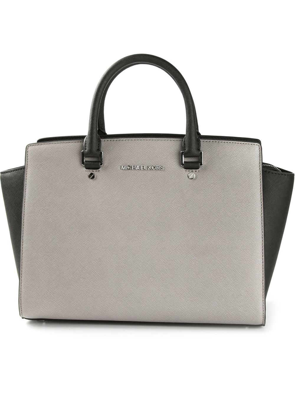 michael michael kors large selma satchel in gray grey lyst. Black Bedroom Furniture Sets. Home Design Ideas
