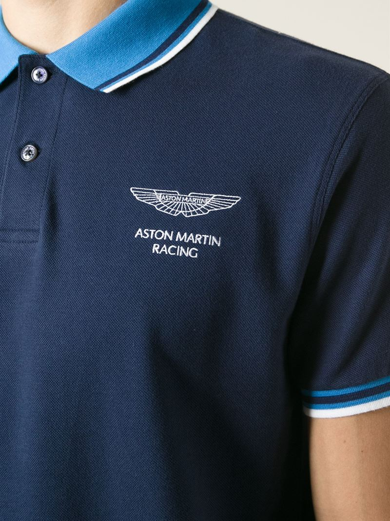 lyst hackett aston martin racing x polo shirt in blue for men. Black Bedroom Furniture Sets. Home Design Ideas