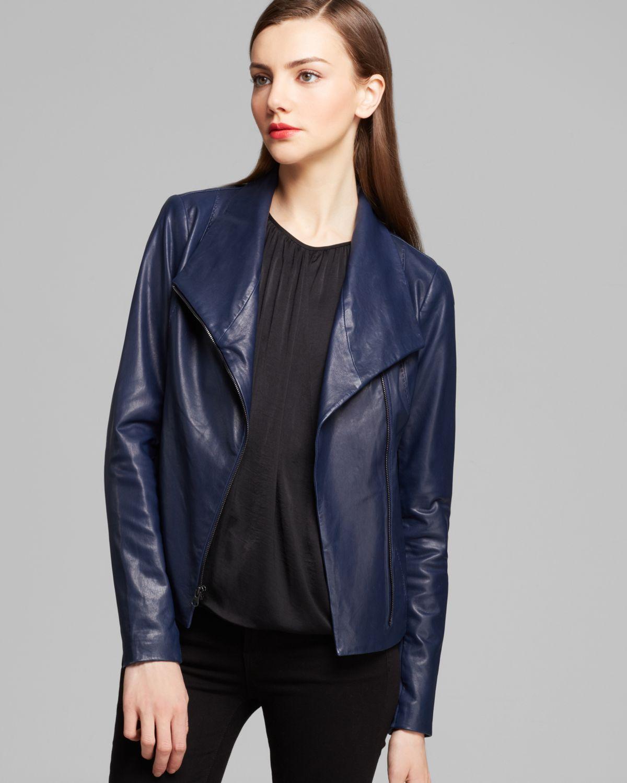 7815e87de Vince Blue Jacket Scuba Leather