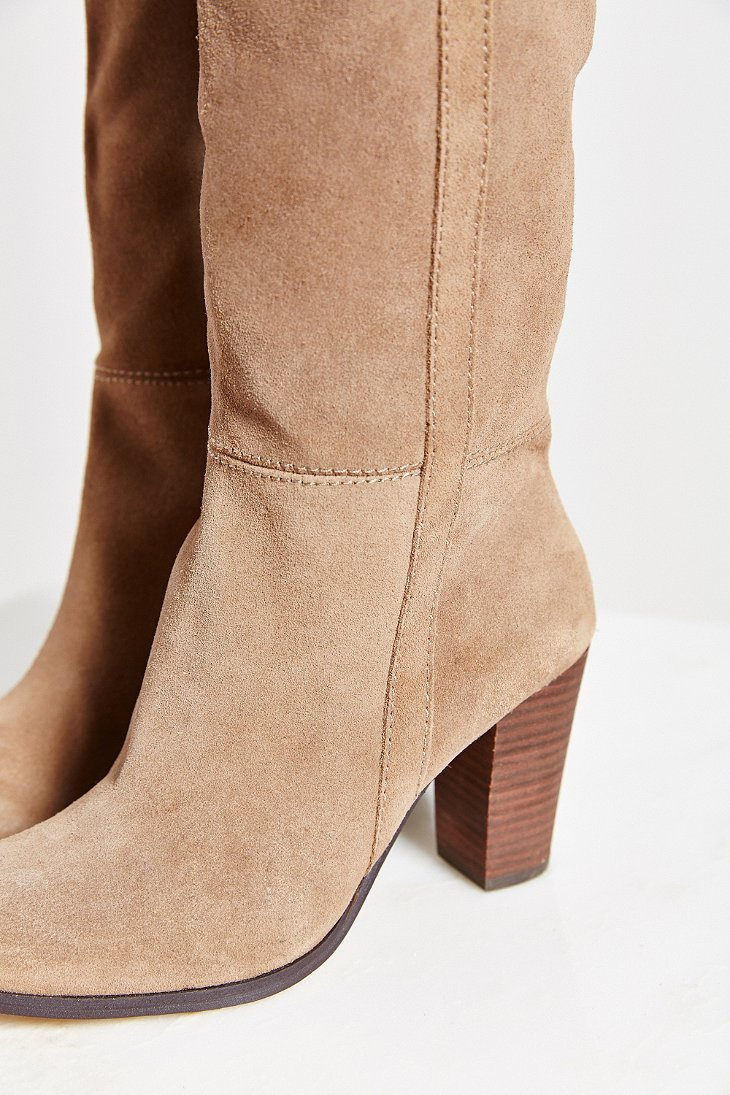 Dolce vita Myste Suede Tall Boot in Brown | Lyst