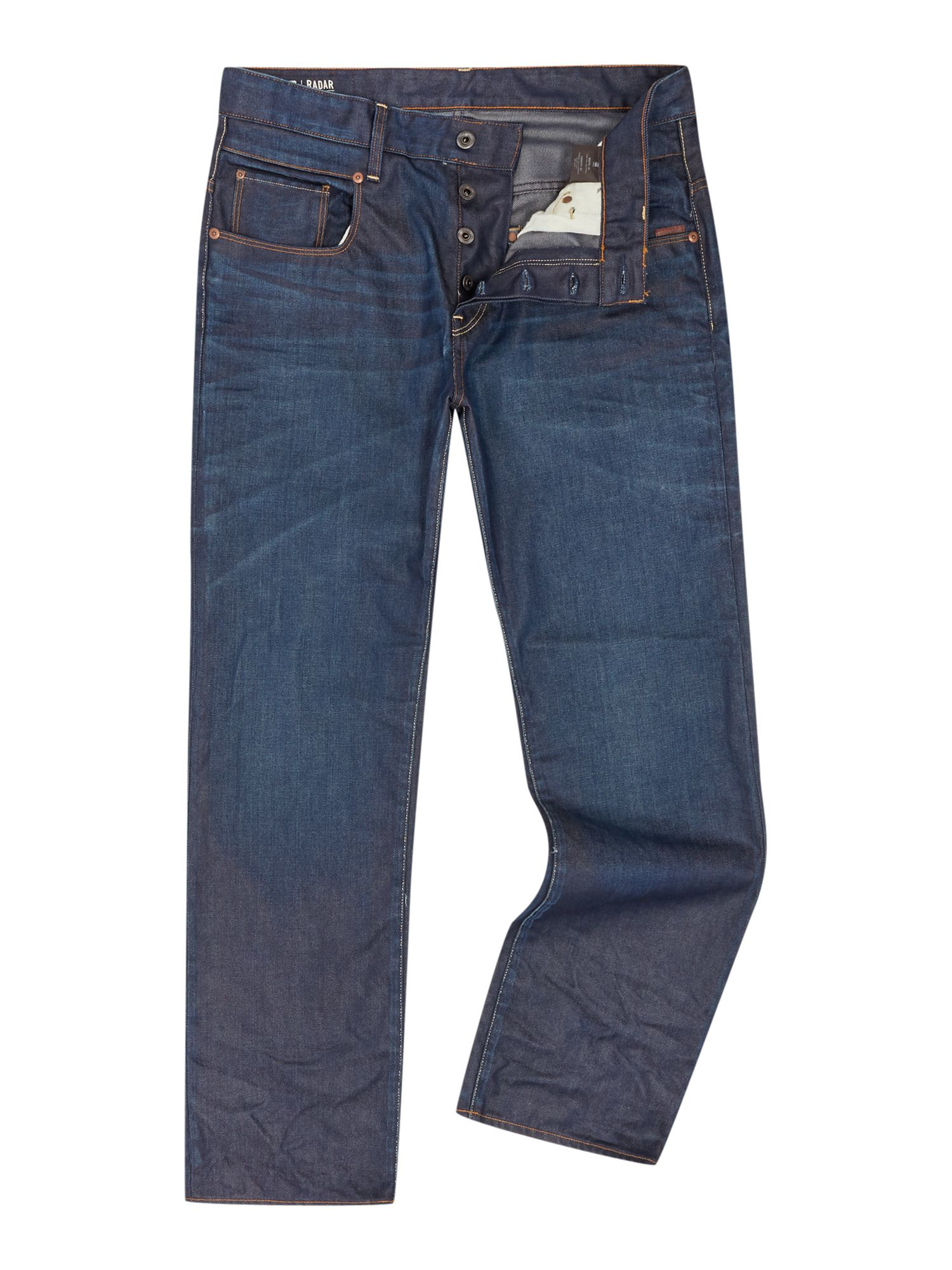 g star raw loosefit straight jeans in blue for men lyst. Black Bedroom Furniture Sets. Home Design Ideas