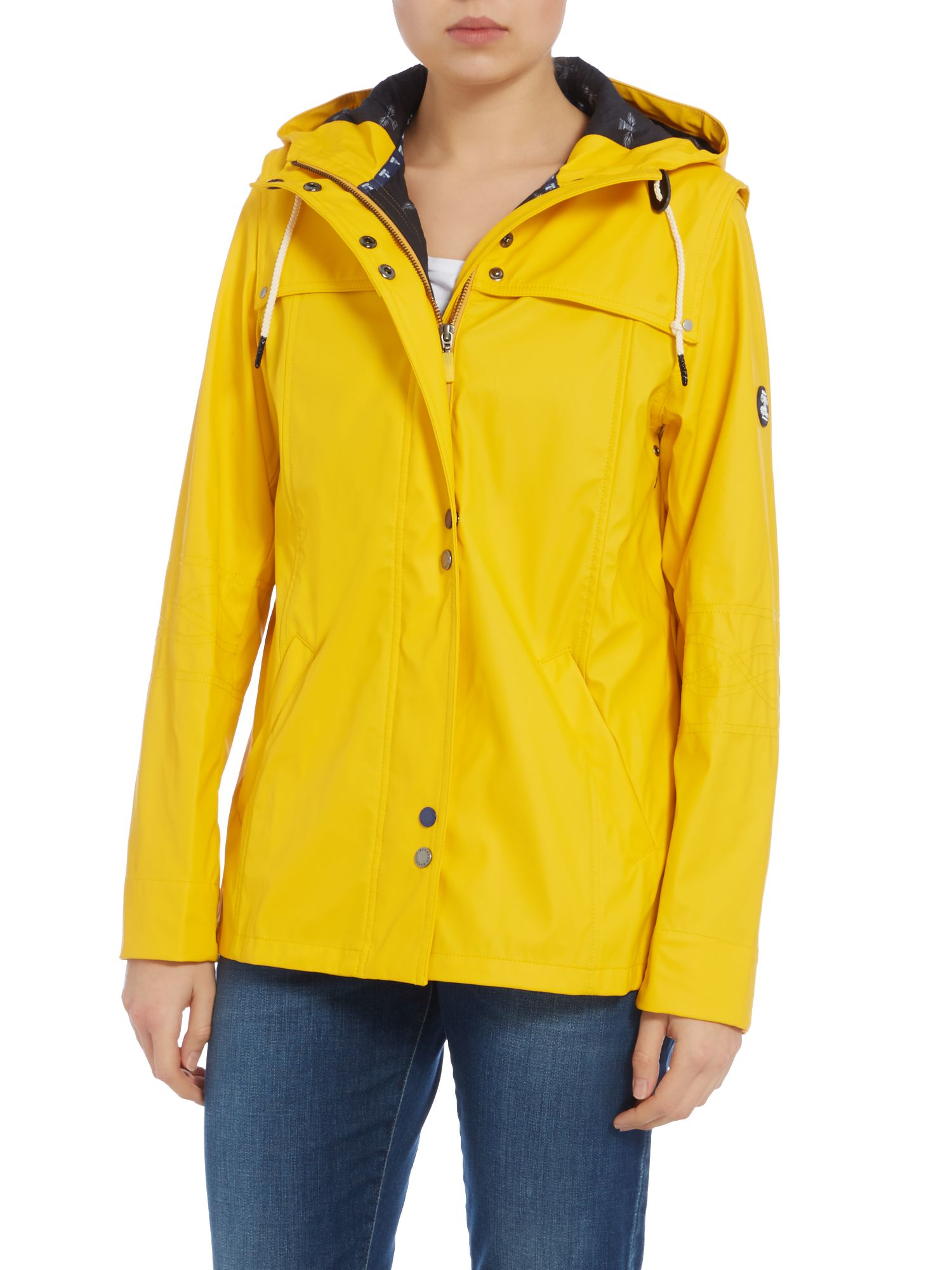 Barbour Hackamore Longline Parka Jacket in Yellow | Lyst