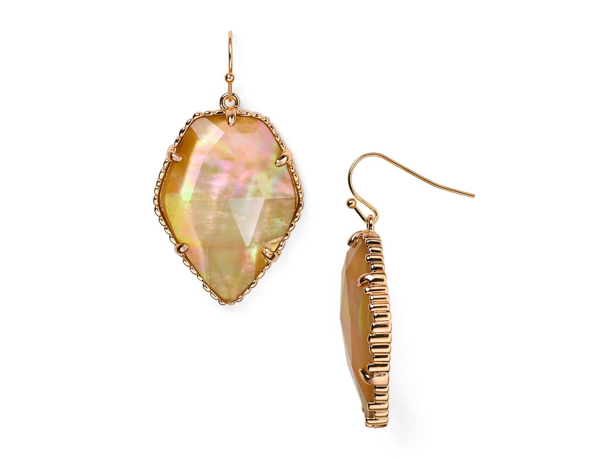 Kendra Scott Mother-of-pearl Corley Earrings In Pink