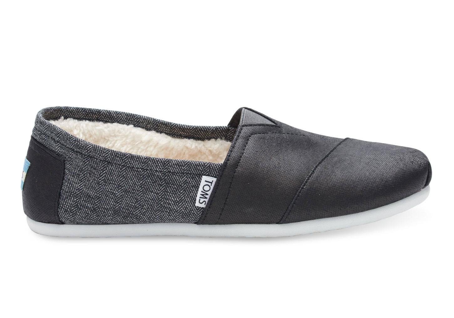 8935eb77cd6 TOMS Black Coated Canvas Shearling Men s Classics in Black for Men ...