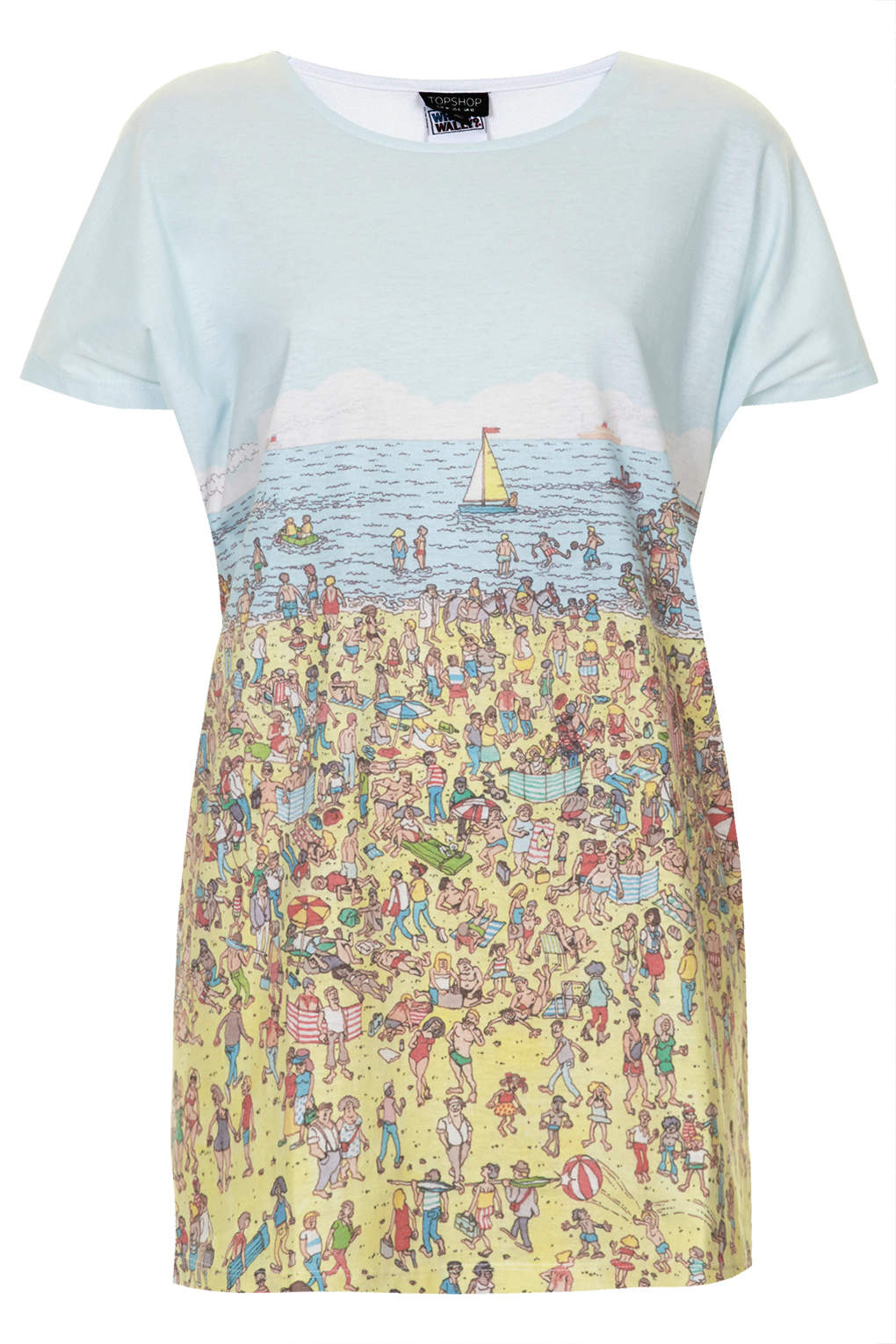 Lyst Topshop Wheres Wally Tee