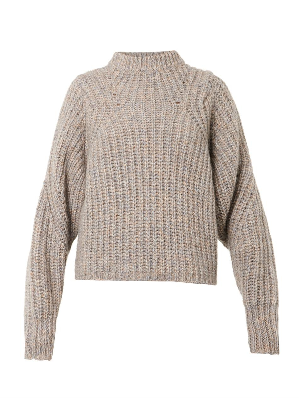 isabel marant newt chunkyknit sweater in beige neutral lyst. Black Bedroom Furniture Sets. Home Design Ideas