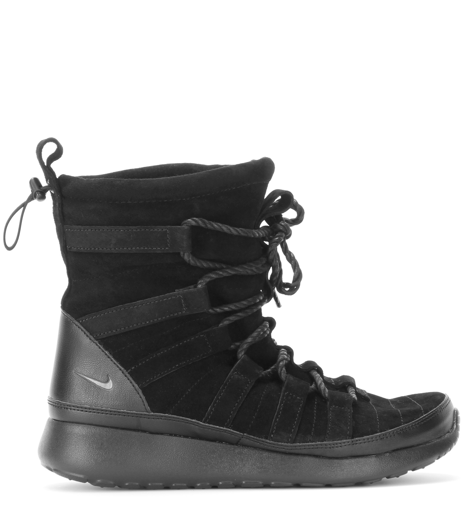 Lyst - Nike Roshe One Suede High-Top Sneakers In Black-5802