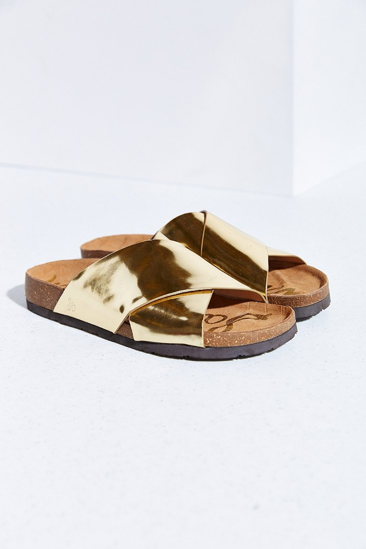 213fc58ab928e Lyst - Sam Edelman Adora Liquid Sandal in Metallic
