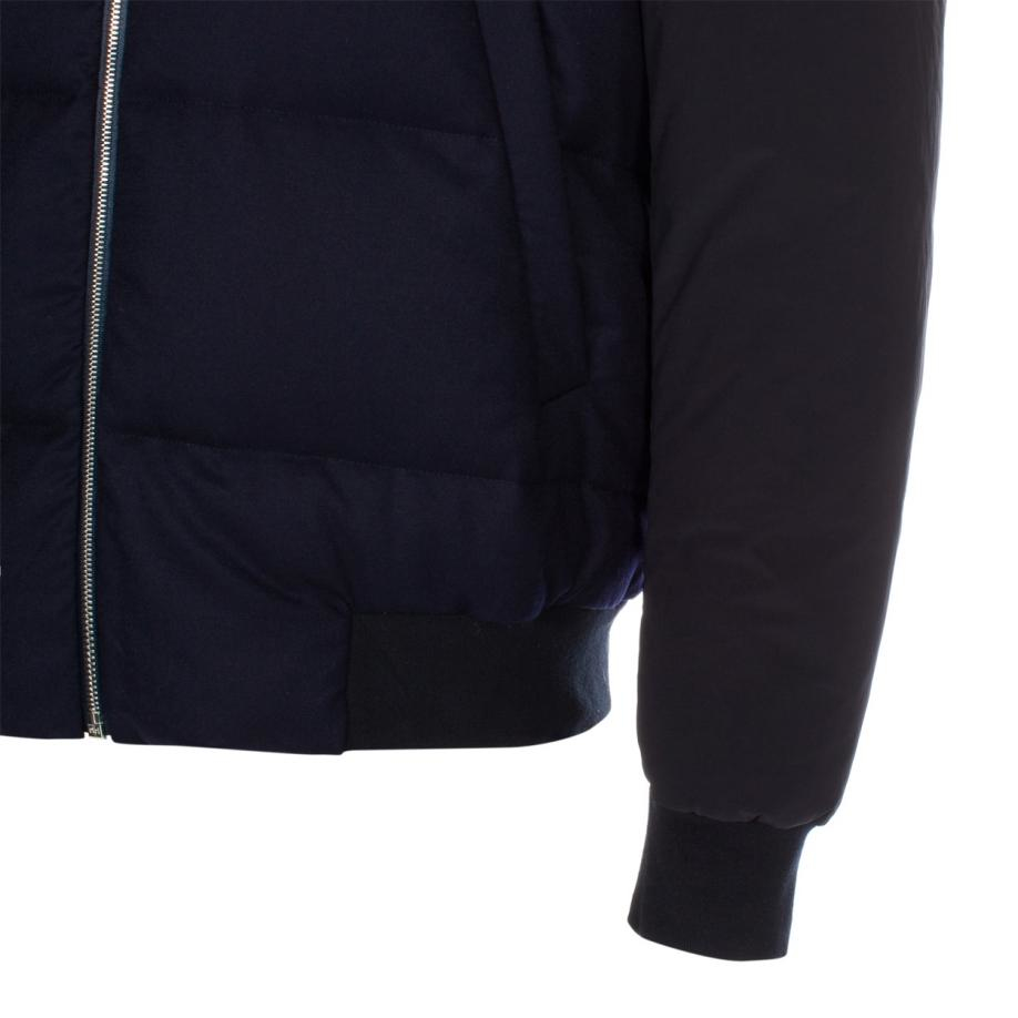 Paul Smith Men's Navy Wool Wadded Bomber Jacket in Blue for Men