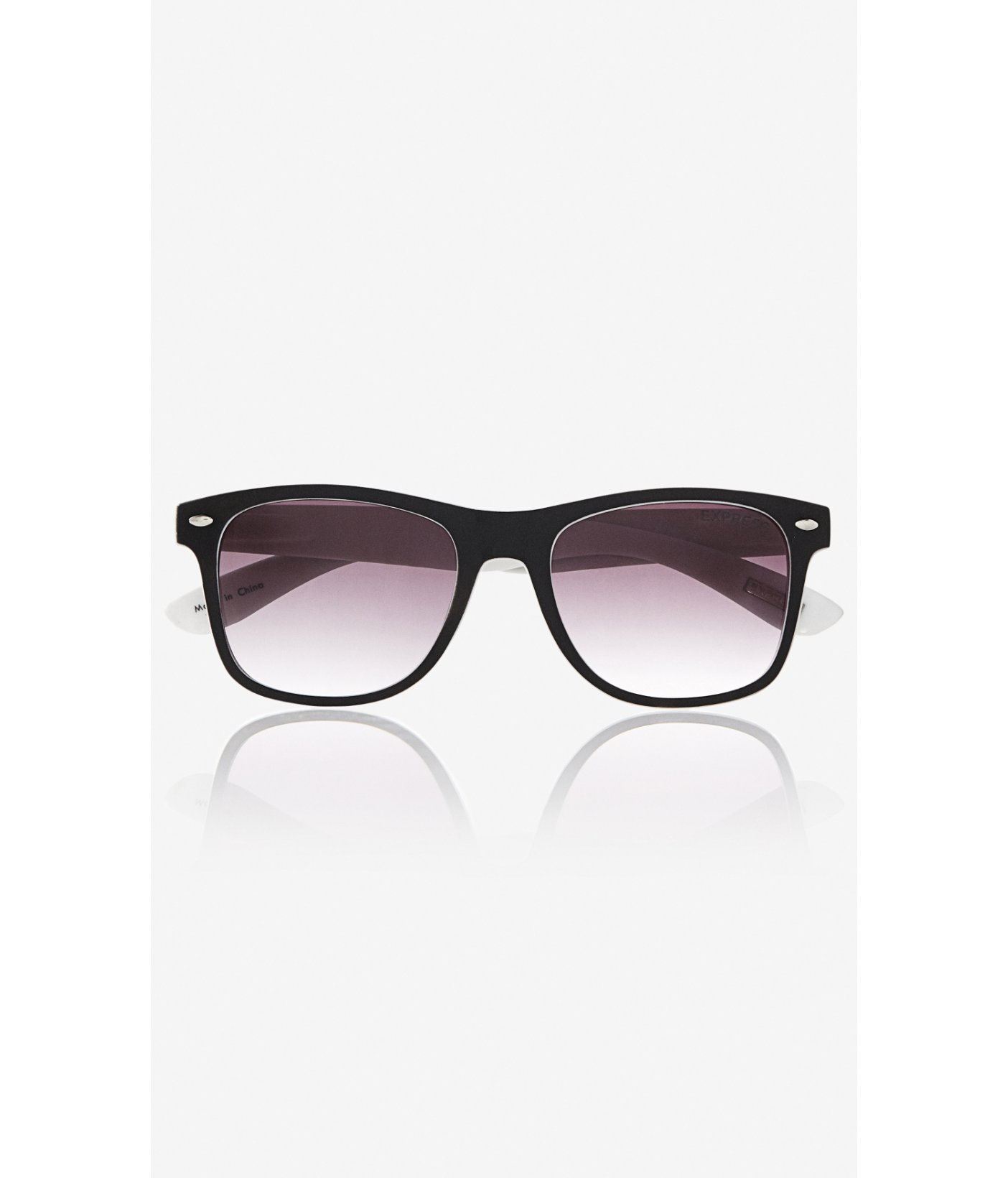 Express Sunglasses  express color pop studded square sunglasses in white for men lyst
