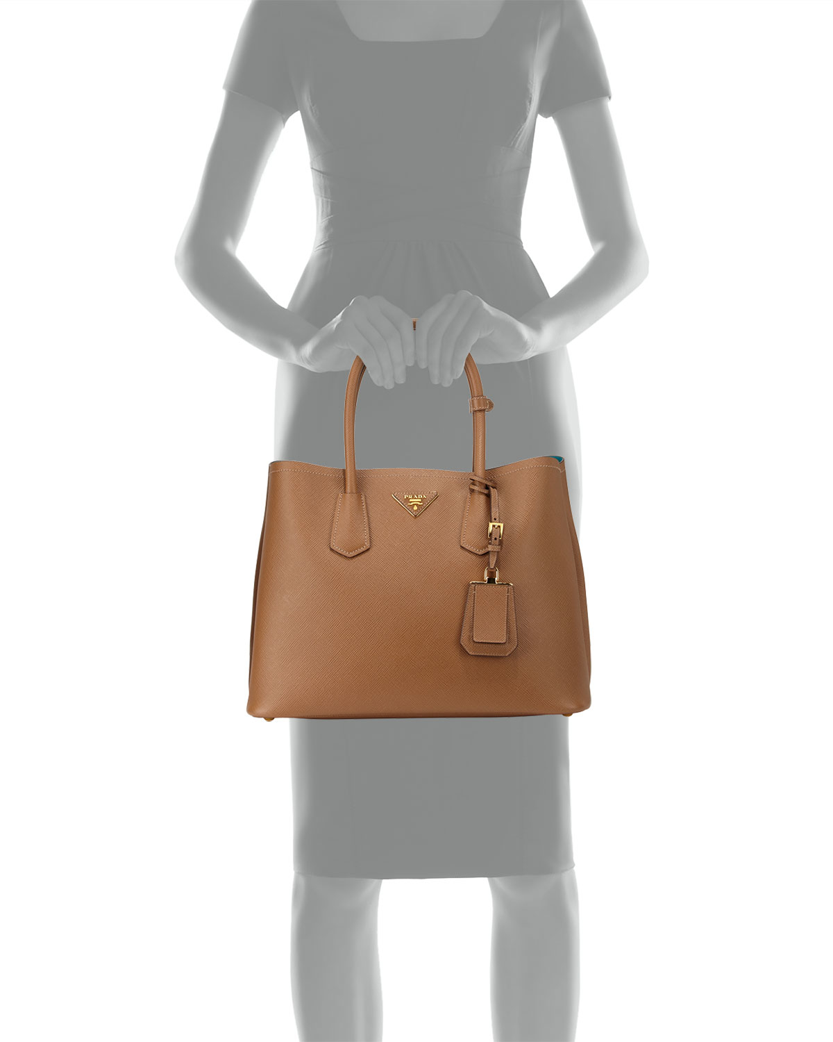 b9de4049112f canada prada tote in ambra vitello daino bn1713 sold 726a0 04336  usa lyst  prada saffiano cuir medium double bag in brown 3d354 c06c7